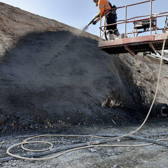 Mine Portal Stabilization Spray